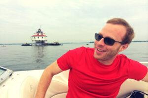 photo of Glenn Schweitzer on boat
