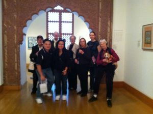 "Members of HLAA Boston Chapter with Museum Accessibility Specialist, Valarie Burrows at ""The Art of Asia and Asian Influence on Western Art"" accessible tour."