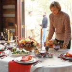 festive holiday table setting